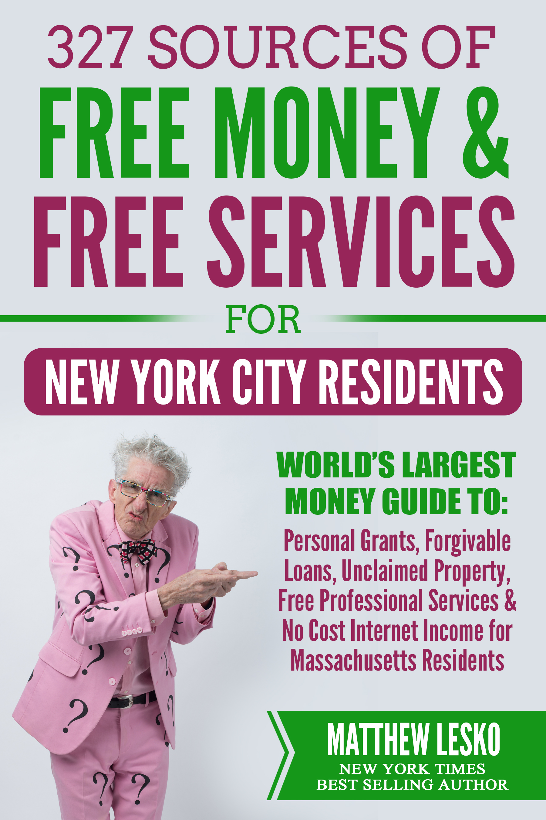 New York City Residents Guide: 327 Applications for Free Personal Grants,  Income and Services (Download Now)